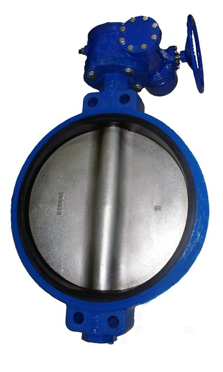Затвор поворотный с редуктором Ду600 Ру16  ABRA / АБРА