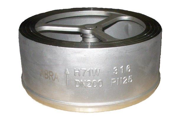 Обратный клапан ABRA D71 из нержавеющей стали межфланцевый