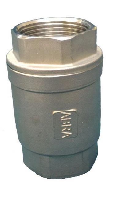 Обратный клапан ABRA D12 из нержавеющей стали резьбовой