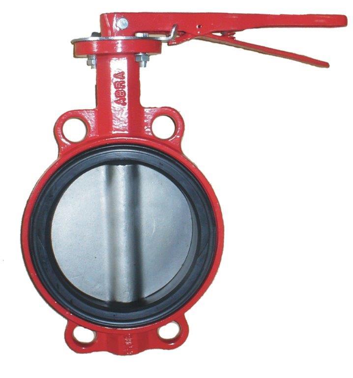 Затвор поворотный с рукояткой BUV866 красный Ру16  ABRA / АБРА