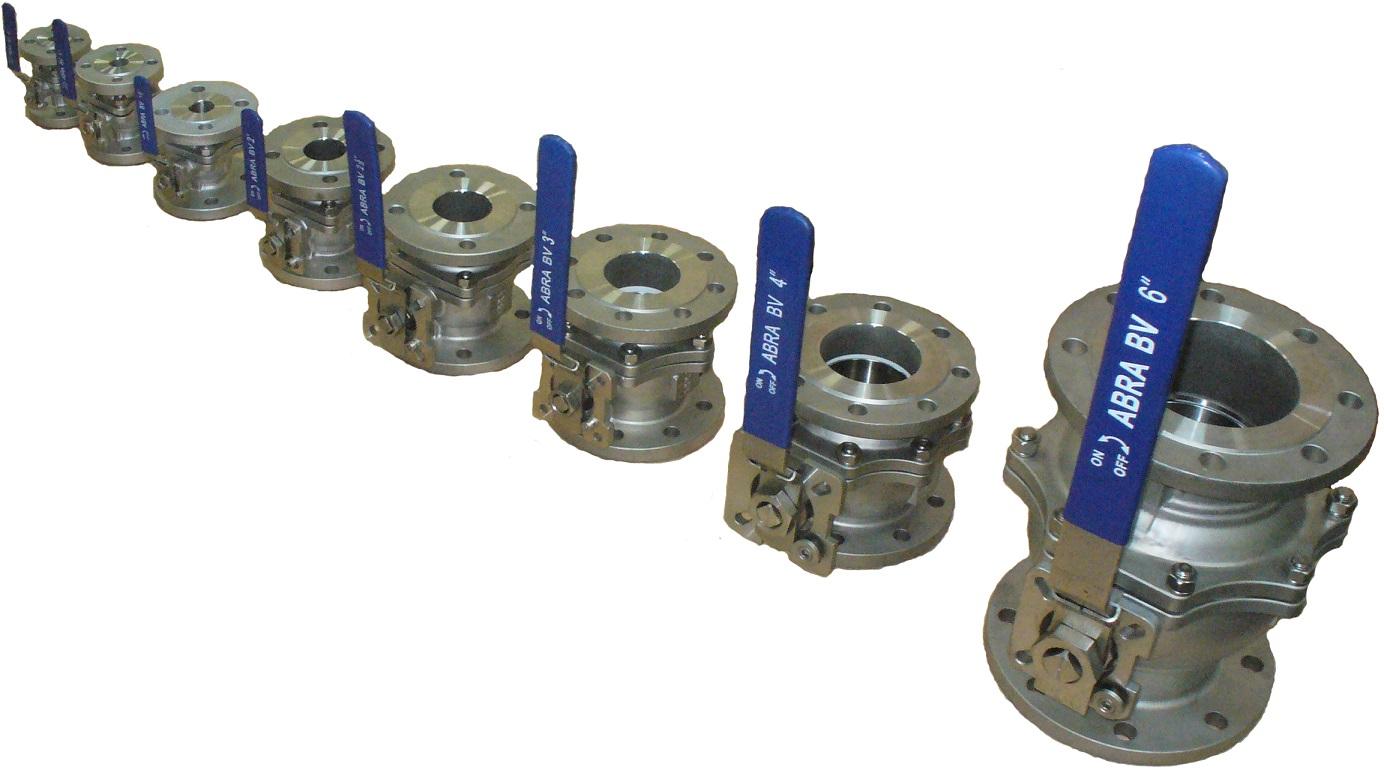 Шаровые краны полнопроходные нержавеющие из стали AISI316 (CF8M) DN15-150 PN40 (до DN50) PN16 в (DN65-150) фланец/фланец Тип ABRA-BV41