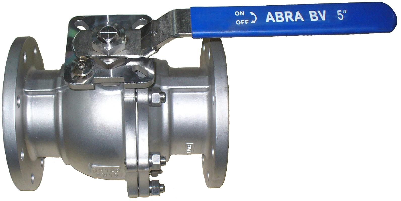 Шаровые краны фланцевые полнопроходные нержавеющие из стали AISI316 (CF8M) DN15-150 DN40 (до DN50) PN16 в (DN65-150) фланец/фланец Тип ABRA-BV41