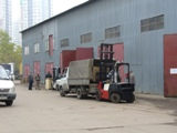 Шабелирование обратных клапанов ABRA  у склада номер 14  для перевозки на стройплощадку в Москве.