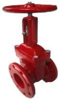 Задвижка клиновая с индикатором положения, пожарная, красная, с обрезиненным клином чугунная, фланцевая DN40-800, PN 16, ABRA-A40-16D.(Технические описания, паспорта, разрешительная документация)