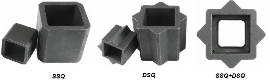 Переходники адаптеры для уменьшения и увеличения посадочных квадратов и звездочек приводов и редукторов, присоединяемых к трубопроводной арматуре. Квадрат-квадрат и квадрат-звезда. Размеры 9,11,14,17,22,27 и 36 мм.
