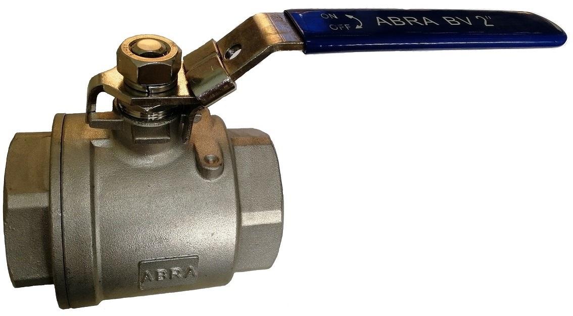 Шаровой кран из нержавеющей стали AISI316 (CF8M) Ду 8-050 (1/4 - 2), Ру40 внутренняя резьба/внутренняя резьба. Код серии ABRA-BV-027A