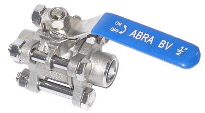 Шаровые краны нержавеющие из стали AISI316 (CF8M) Ду 15-100 Ру40 сварка/сварка стандартные патрубки Тип ABRA-BV61A