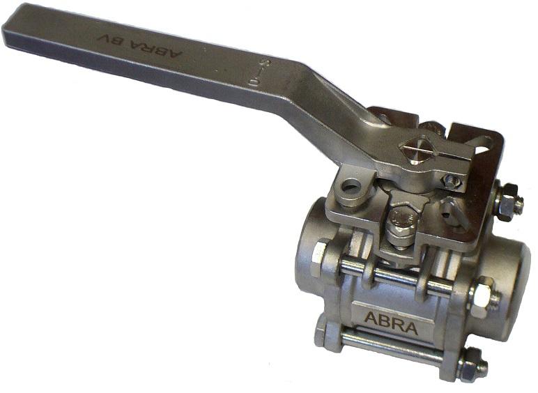 Шаровые краны полнопроходные нержавеющие из стали AISI316 (CF8M) DN(Ду)8-100 PN(Ру)40 сварка/сварка стандартные патрубки Тип ABRA-BV61 c ISO верхним фланцем