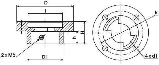 Присоединительный фланец ISO 5211 и 5210 Балломакс Габаритный Чертеж