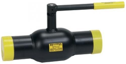 Кран шаровой стальной Ballomax (Балломакс) присоединение сварка / сварка Ру25 Ду65-100 с рукояткой. Серия КШТ 60.102.XXX для использования в ИТП, ЦТП, системах теплоснабжения, холодоснабжения , охлаждения и промышленного сектора. Т мин/макс : - 40/200 C