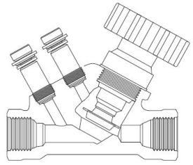 Седельчатый балансировочный клапан. Не супер-пупер вещь.