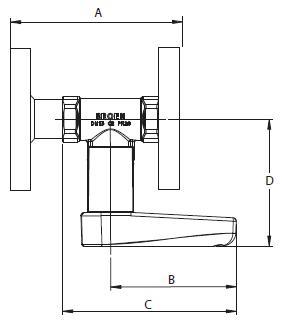 BALLOREX Venturi DRV Ду 015-050 Ру16 фланцевые балансировочные клапаны Броен. Габаритные размеры, строительные длины, веса и Kv.