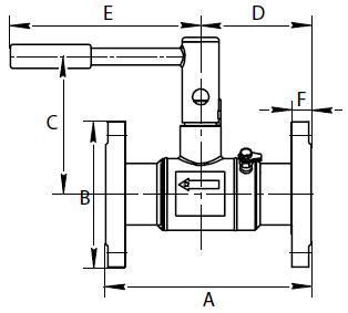 BALLOREX Venturi DRV Ду 065-150 Ру16 фланцевые балансировочные клапаны Броен. Габаритные размеры, строительные длины, веса и Kv.