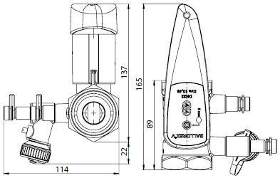 BALLOREX V Ду 32 Ру25  Баллорекс V балансировочные клапаны Броен. Габаритные размеры, строительные длины, веса и Kv.