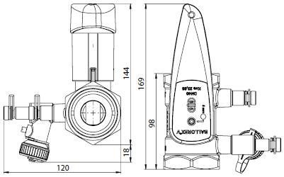 BALLOREX V Ду 40 Ру25  Баллорекс V балансировочные клапаны Броен. Габаритные размеры, строительные длины, веса и Kv.