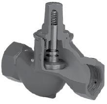 Обратный клапан чугунный седельчатый резьбовой. Код серии V277.