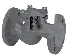 Обратный клапан для воды, пара и других применений седельчатый фланцевый Zetkama V287 DN15-300 PN16