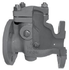 Обратный клапан для воды, пара и других применений поворотный подъемный фланцевый Zetkama V302 DN40-300 PN16