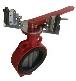 Затвор поворотный с концевыми выключателями дисковый чугунный ABRA. Поворотный затвор. Внешний вид. Затвор дисковый. Затвор поворотный с рукояткой и концевыми выключателями.