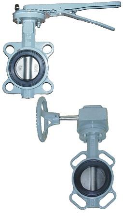 PN16 DN32-600 GG25 / AISI316 / NBR с рукояткой или редуктором