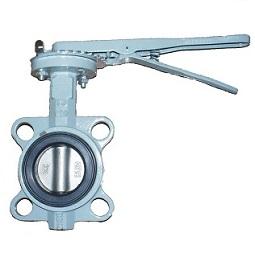 Затвор поворотный дисковый чугунный c уплотнением NBR с рукояткой