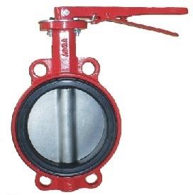 Затвор поворотный дисковый чугунный ABRA с рукояткой. Поворотный затвор с уплотнением EPDM и диском из нержавейки Внешний вид. Затвор дисковый. Затвор поворотный. Затвор с рукояткой.