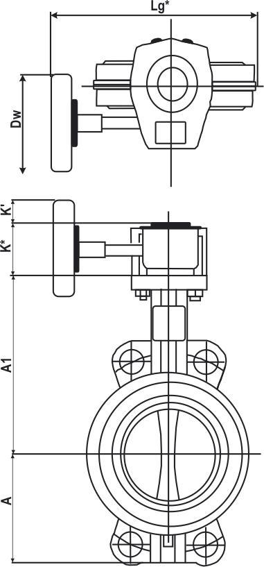 Затвор поворотный дисковый чугунный редуктором. Габаритные размеры и вес. Затвор дисковый с редуктором. Затвор поворотный с редуктором.