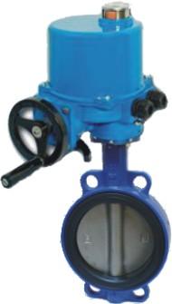 Затвор поворотный дисковый чугунный межфланцевый Ду32-1200 Ру16 или Ру10, уплотнение EPDM или NBR с электроприводом 3х380В ГЗ Электропривод