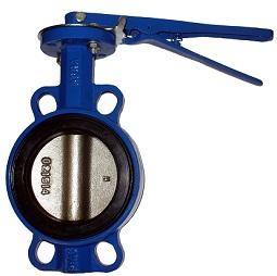 Затвор поворотный дисковый чугунный c уплотнением EPDM с рукояткой