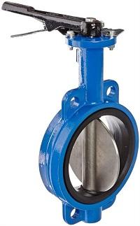 Обычный межфланцевый дисковый поворотный затвор с мягким уплотнением.