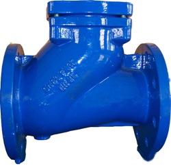 Обратный клапан фланцевый шаровой (с шаром, шаровый). Код серии ABRA-D-022-NBR.
