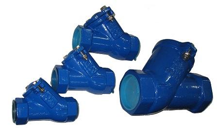 Обратный клапан шаровой резьбовой для канализации под давлением и других применений муфтовый DN25-080 PN16