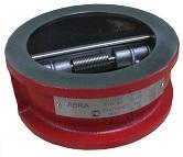 Обратный клапан двустворчатый (двухстворчатый) межфланцевый батерфляй. Код серии ABRA-D-122-EN.