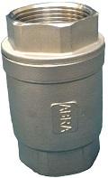 Обратный клапан нержавеющий из стали AISI316 (CF8M) резьбовой Ду 15-50 Ру 40 Тип ABRA-D12
