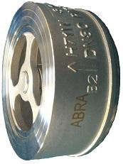 Чертеж габаритный обратного клапана двустворчатого межфланцевого ABRA-D71
