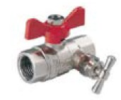 Шаровой кран полнопроходный с сальником и дренажом (с дренажным вентилем = краном)  COMAP серия 647 и 6476 DN15-50 PN30 внутренняя / внутренняя резьба
