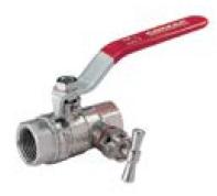 Шаровой кран полнопроходный с сальником и дренажом (с дренажным вентилем = краном)  COMAP серия 647 DN15-50 PN30