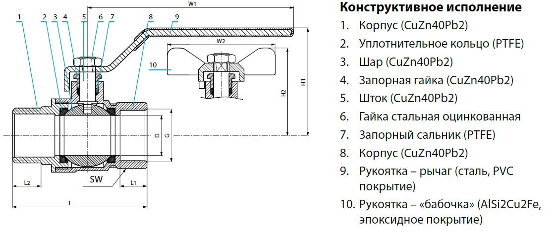 Шаровой кран латунный полнопроходный с сальником COMAP серия 680 и 6806 DN10-50 PN30 внутренняя / внешняя (наружная) резьба. Корпус и шар - никелированная латунь, уплотнения и седла - PTFE = тефлон, Рукоятка - качественный высокопрочный сплав алюминия.