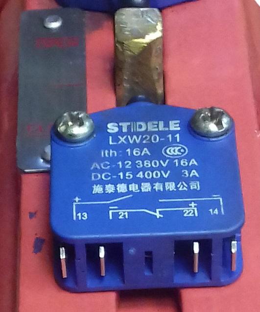 Концевой выключатель для перспективной на 2020 год модели задвижки ABRA пожарной с индикатором положения и невыдвижным голым штоком ABRA-A4010(16)GiXXX чугунной с индикатором положения или концевыми выключателями