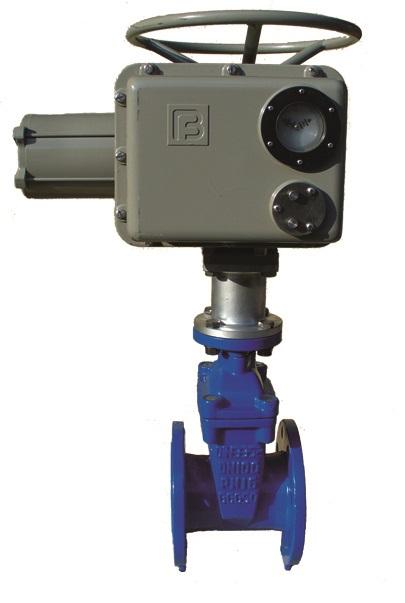 Задвижки клиновые с обрезиненным клином ABRA Ду 040-600 Ру10/16  с электроприводами. Задвижка для ПНД.