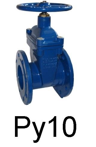 Задвижка с обрезиненным клином фланцевая чугунная клиновая c невыдвижным штоком Ду 200-600 Ру 10. Задвижка обрезиненная (типа МЗВ, МЗВГ). Задвижка для ПНД.