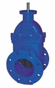 Задвижка с обрезиненным клином  Ду 040-600 Ру 10 и Ру16 фланец ISO 5210 (ISO 5211) под установку электропривода или редуктора. Задвижка для ПНД.