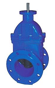 Задвижка клиновая с обрезиненным клином и  невыдвижным штоком с ISO 5210 (ISO 5211) фланцем под установку редукторов и пневмоприводов и электроприводов.   Задвижка обрезиненная.