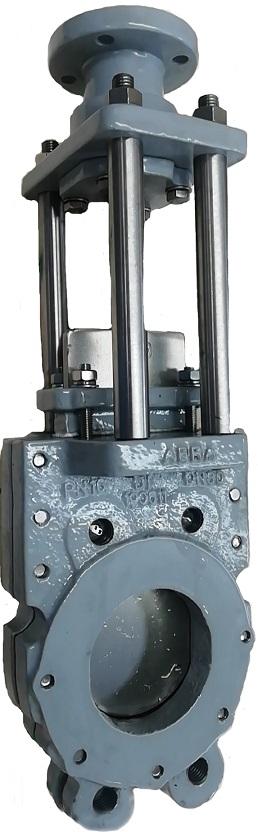 Задвижки шиберные (затворы ножевые) DN(Ду) 50-600 PN(Ру) 10/16 двусторонние, корпус GGG40,  нож - SS AISI304, седло EPDM. Серия ABRA-KV-03 выдвижной шток под установку привода или редуктора (OS&Y).