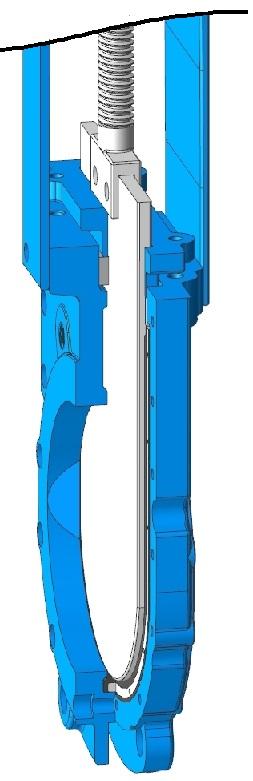 Задвижки шиберные ножевые DN(Ду) 50-300 PN(Ру) 10/16 двусторонние, корпус GGG40,  диск - SS AISI 304, седло EPDM. Серия ABRA-KV-GT506C. Разрез.