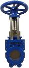 Задвижки шиберные (затворы ножевые) DN(Ду) 50-600 PN(Ру) 10/16 двусторонние, корпус GGG40,  нож - SS AISI304, седло EPDM. Серия ABRA-KV-02 выдвижной шток (OS&Y)