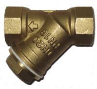 Фильтр сетчатый резьбовой латунный DN8-50 PN16, ABRA-YS-3000E