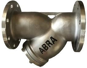 Фильтр сетчатый фланцевый из нержавеющей стали DN15-200 PN 16, ABRA-YF-3000-SS316. Фланцы по ГОСТ. Фильтр фланцевый. Фильтр нержавеющий.