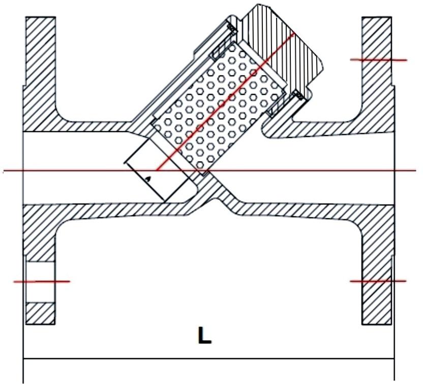 Фильтр сетчатый фланцевый из нержавеющей стали Ду 15-40 Ру 16, ABRA-YF-3000-SS316. Фланцы по ГОСТ. Фильтр фланцевый. Фильтр нержавеющий.