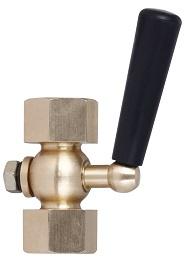 Кран трехходовой под манометр ABRA КМ Ду 015 Ру 20 резьбовой VFM20I015 мама/мама (клапан к манометру).